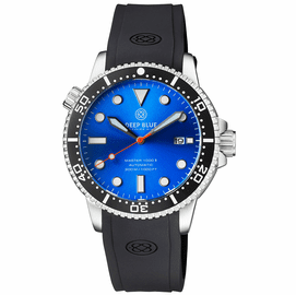 MASTER  1000 II  44MM  AUTOMATIC DIVER BLACK CERAMIC BEZEL - LIGHT BLUE  SUNRAY DIAL ORG SECOND HAND