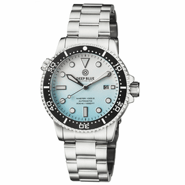 MASTER 1000 II 44MM AUTOMATIC DIVER BLACK CERAMIC BEZEL MATTE ICE BLUE BRACELET