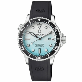 MASTER 1000 II 44MM AUTOMATIC DIVER BLACK CERAMIC BEZEL MATTE ICE BLUE STRAP