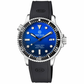MASTER 1000 II 44MM AUTOMATIC DIVER BLACK CERAMIC BEZEL MATTE LIGHT BLUE DIAL STRAP
