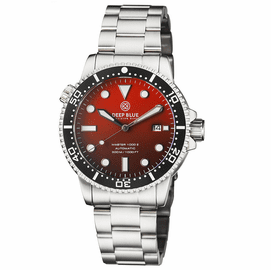 MASTER 1000 II 44MM AUTOMATIC DIVER BLACK CERAMIC BEZEL MATTE ORANGE DIAL BRACELET