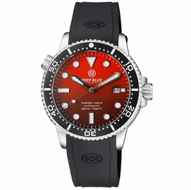 MASTER 1000 II 44MM AUTOMATIC DIVER BLACK CERAMIC BEZEL MATTE ORANGE DIAL STRAP