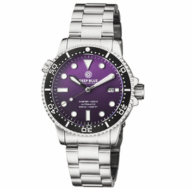 MASTER 1000 II 44MM AUTOMATIC DIVER BLACK CERAMIC BEZEL MATTE PURPLE DIAL  BRACELET
