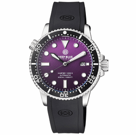 MASTER 1000 II 44MM AUTOMATIC DIVER BLACK CERAMIC BEZEL MATTE PURPLE DIAL STRAP