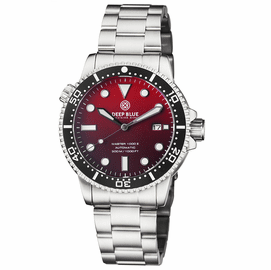 MASTER 1000 II 44MM AUTOMATIC DIVER BLACK CERAMIC BEZEL MATTE RED DIAL BRACELET