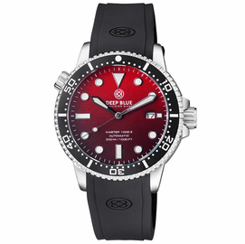MASTER 1000 II 44MM AUTOMATIC DIVER BLACK CERAMIC BEZEL MATTE RED DIALSTRAP