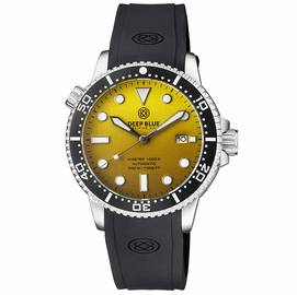 MASTER 1000 II 44MM AUTOMATIC DIVER BLACK CERAMIC BEZEL MATTE YELLOW DIAL STRAP
