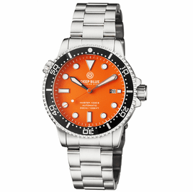 MASTER  1000 II  44MM  AUTOMATIC DIVER BLACK CERAMIC BEZEL -ORANGE MATTE DIAL