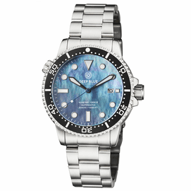 MASTER  1000 II  44MM  AUTOMATIC DIVER BLACK CERAMIC BEZEL -PLATINUIM MOTHER OF PEARL DIAL CODE