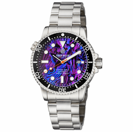 MASTER  1000 II  44MM  AUTOMATIC DIVER BLACK CERAMIC BEZEL -PURPLE ABALONE DIAL