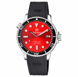 MASTER  1000 II  44MM  AUTOMATIC DIVER BLACK CERAMIC BEZEL -RED SUNRAY  DIAL
