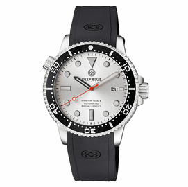 MASTER  1000 II  44MM  AUTOMATIC DIVER BLACK CERAMIC BEZEL -SILVER SUNRAY DIAL