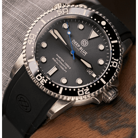 MASTER  1000 II  44MM  AUTOMATIC DIVER BLACK CERAMIC BEZEL -SLATE GREY BLUE SUNRAY DIAL STRAP