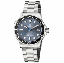 MASTER 1000 II 44MM AUTOMATIC DIVER BLACK CERAMIC BEZEL -SLATE GREY BLUE SUNRAY DIAL BRACELET