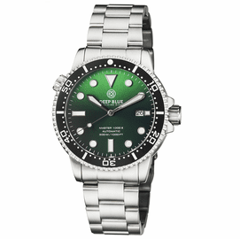 MASTER 1000 II 44MM AUTOMATIC DIVER BLACK CERAMIC BEZEL SUNRAY GREEN DIAL BRACELET