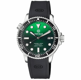 MASTER 1000 II 44MM AUTOMATIC DIVER BLACK CERAMIC BEZEL SUNRAY GREEN DIAL STRAP