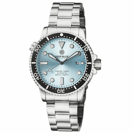 MASTER 1000 II 44MM AUTOMATIC DIVER BLACK CERAMIC BEZEL  SUNRAY ICE BLUE DIAL BRACELET