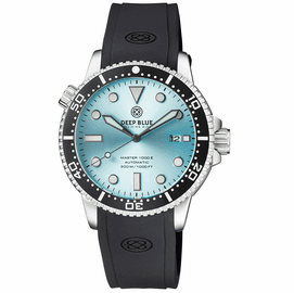 MASTER 1000 II 44MM AUTOMATIC DIVER BLACK CERAMIC BEZEL  SUNRAY ICE BLUE DIAL STRAP