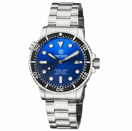 MASTER 1000 II 44MM AUTOMATIC DIVER BLACK CERAMIC BEZEL SUNRAY LIGHT BLUE DIAL BRACELET