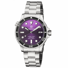 MASTER 1000 II 44MM AUTOMATIC DIVER BLACK CERAMIC BEZEL SUNRAY PURPLE DIAL BRACELET