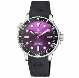 MASTER 1000 II 44MM AUTOMATIC DIVER BLACK CERAMIC BEZEL SUNRAY PURPLE DIAL STRAP