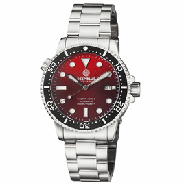 MASTER 1000 II 44MM AUTOMATIC DIVER BLACK CERAMIC BEZEL SUNRAY RED DIAL  BRACELET