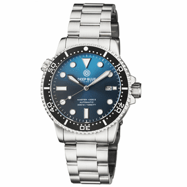 MASTER 1000 II 44MM AUTOMATIC DIVER BLACK CERAMIC BEZEL SUNRAY TEAL BLUE BRACELET