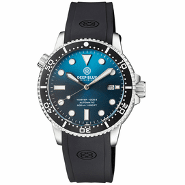 MASTER 1000 II 44MM AUTOMATIC DIVER BLACK CERAMIC BEZEL SUNRAY TEAL  BLUE STRAP