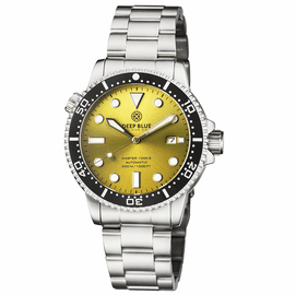 MASTER 1000 II 44MM AUTOMATIC DIVER BLACK CERAMIC BEZEL SUNRAY YELLOW DIAL BRACELET