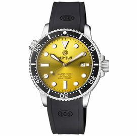MASTER 1000 II 44MM AUTOMATIC DIVER BLACK CERAMIC BEZEL SUNRAY YELLOW DIAL STRAP