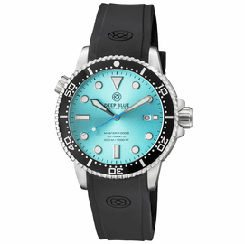 MASTER  1000 II  44MM  AUTOMATIC DIVER BLACK CERAMIC BEZEL -TEAL SUNRAY DIAL STRAP