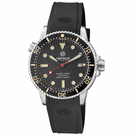 MASTER  1000 II  44MM  AUTOMATIC DIVER BLACK CERAMIC BEZEL -VIINTAGE TEXTURE  DIAL STRAP