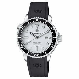 MASTER  1000 II  44MM  AUTOMATIC DIVER BLACK CERAMIC BEZEL -WHITE GLOSSY DIAL