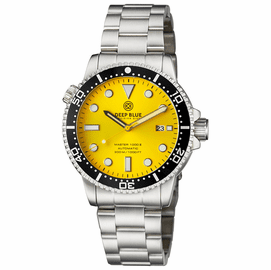MASTER  1000 II  44MM  AUTOMATIC DIVER BLACK CERAMIC BEZEL -YELLOW SUNRAY  DIAL
