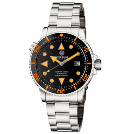 MASTER 1000 II 44MM AUTOMATIC DIVER BLACK ORANGE CERAMIC BEZEL ARROW VINTAGE BLACK DIAL BRACELET