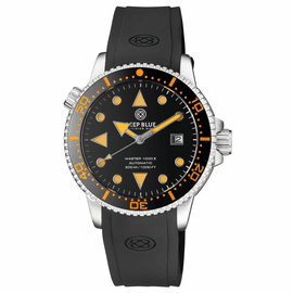 MASTER 1000 II 44MM AUTOMATIC DIVER BLACK ORANGE CERAMIC BEZEL ARROW VINTAGE BLACK  DIAL STRAP