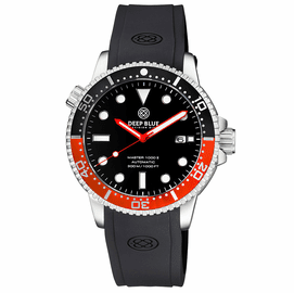 MASTER  1000 II  44MM  AUTOMATIC DIVER BLACK/RED CERAMIC BEZEL -BLACK GLOSSY DIAL