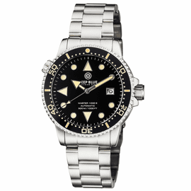 MASTER 1000 II 44MM AUTOMATIC DIVER BLACK VINTAGE LUME CERAMIC BEZEL ARROW VINTAGE BLACK DIAL