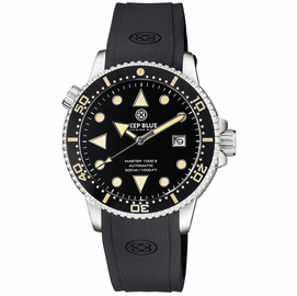 MASTER 1000 II 44MM AUTOMATIC DIVER BLACK VINTAGE LUME  CERAMIC BEZEL ARROW VINTAGE BLACK DIAL STRAP
