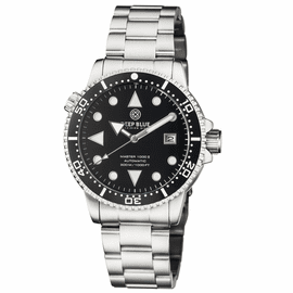 MASTER 1000 II 44MM AUTOMATIC DIVER BLACK WHITE CERAMIC BEZEL ARROW VINTAGE BLACK DIAL BRACELET