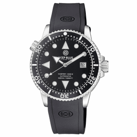 MASTER 1000 II 44MM AUTOMATIC DIVER BLACK WHITE CERAMIC BEZEL ARROW VINTAGE BLACK  DIAL STRAP