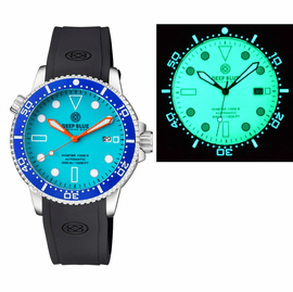 MASTER 1000 II 44MM AUTOMATIC DIVER BLUE CERAMIC BEZEL – BLUE FULL LUME DIAL STRAP
