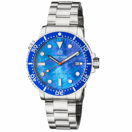 MASTER  1000 II  44MM  AUTOMATIC DIVER BLUE CERAMIC BEZEL - BLUE MOTHER OF PEARL  DIAL-ORANGE HANDS
