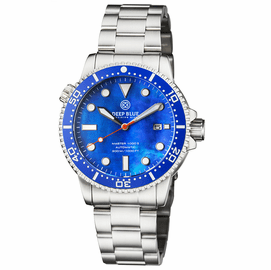 MASTER  1000 II  44MM  AUTOMATIC DIVER BLUE CERAMIC BEZEL - BLUE MOTHER OF PEARL  DIAL-ORANGE SECOND HAND