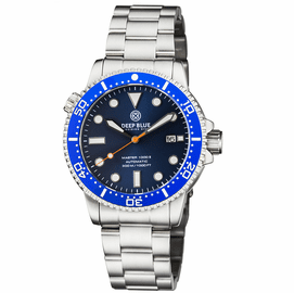 MASTER  1000 II  44MM  AUTOMATIC DIVER BLUE CERAMIC BEZEL - DARK BLUE SUNRAY DIAL-ORANGE SECOND HAND
