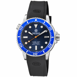 MASTER  1000 II  44MM  AUTOMATIC DIVER BLUE CERAMIC BEZEL -DARK BLUE SUNRAY DIAL- ORANGE SECOND HAND