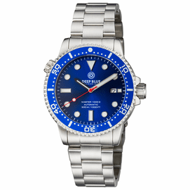 MASTER  1000 II  44MM  AUTOMATIC DIVER BLUE CERAMIC BEZEL - DARK BLUE SUNRAY DIAL-RED SECOND HAND