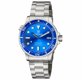 MASTER  1000 II  44MM  AUTOMATIC DIVER BLUE CERAMIC BEZEL -LIGHT BLUE SUNRAY DIAL-BLUE SECOND HAND