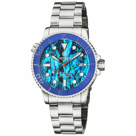 MASTER  1000 II  44MM  AUTOMATIC DIVER BLUE EMBOSSED  CERAMIC BEZEL -BLUE ABALONE DIAL