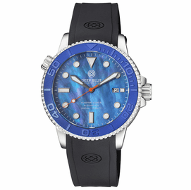 MASTER  1000 II  44MM  AUTOMATIC DIVER BLUE EMBOSSED CERAMIC BEZEL -BLUE MOTHER OF PEARL STRAP